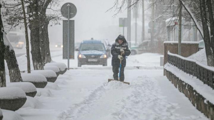 Красноярцев ожидают морозные выходные и снегопад