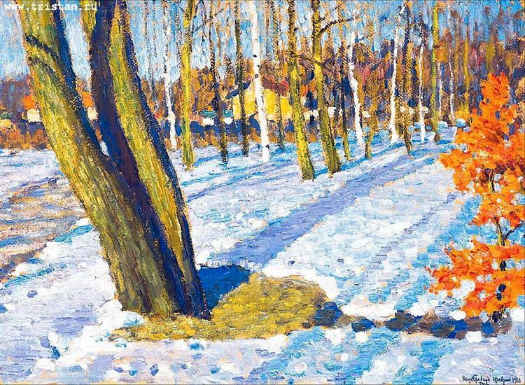 «Мартовский снег», Игорь Грабарь, 1921