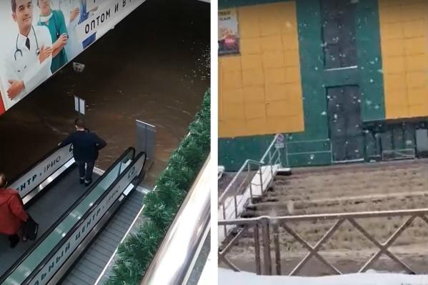 Потоп в торговом центре «Рио» в Ярославе