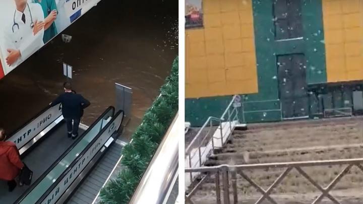 Масштабный потоп в «Рио» на Тутаевском шоссе в Ярославле: первая информация, фото, видео