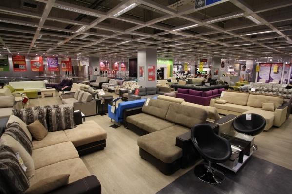 В торговом зале гипермаркета Hoff в Москве