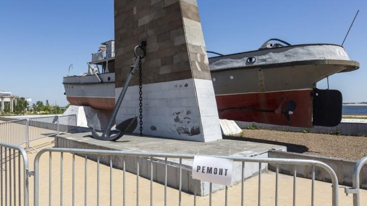 В Волгограде ждет ремонта памятник пароходу «Гаситель»