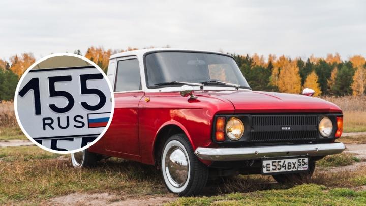 В Омске начали выдавать госномера с кодом региона «155»