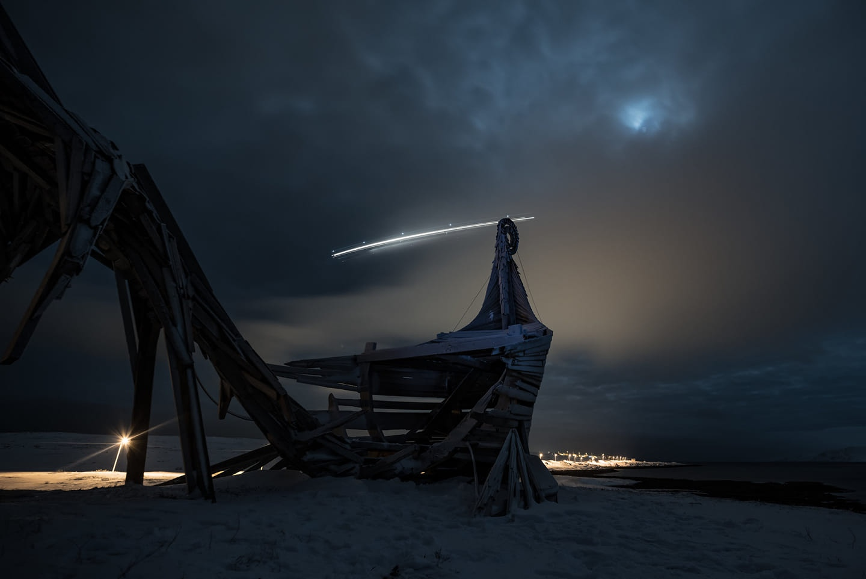 Арт-объект «Драккар-Левиафан». Вардё, Норвегия