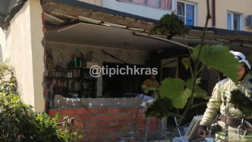 На Кубани из-за взрыва газа в доме пострадала 93-летняя пенсионерка