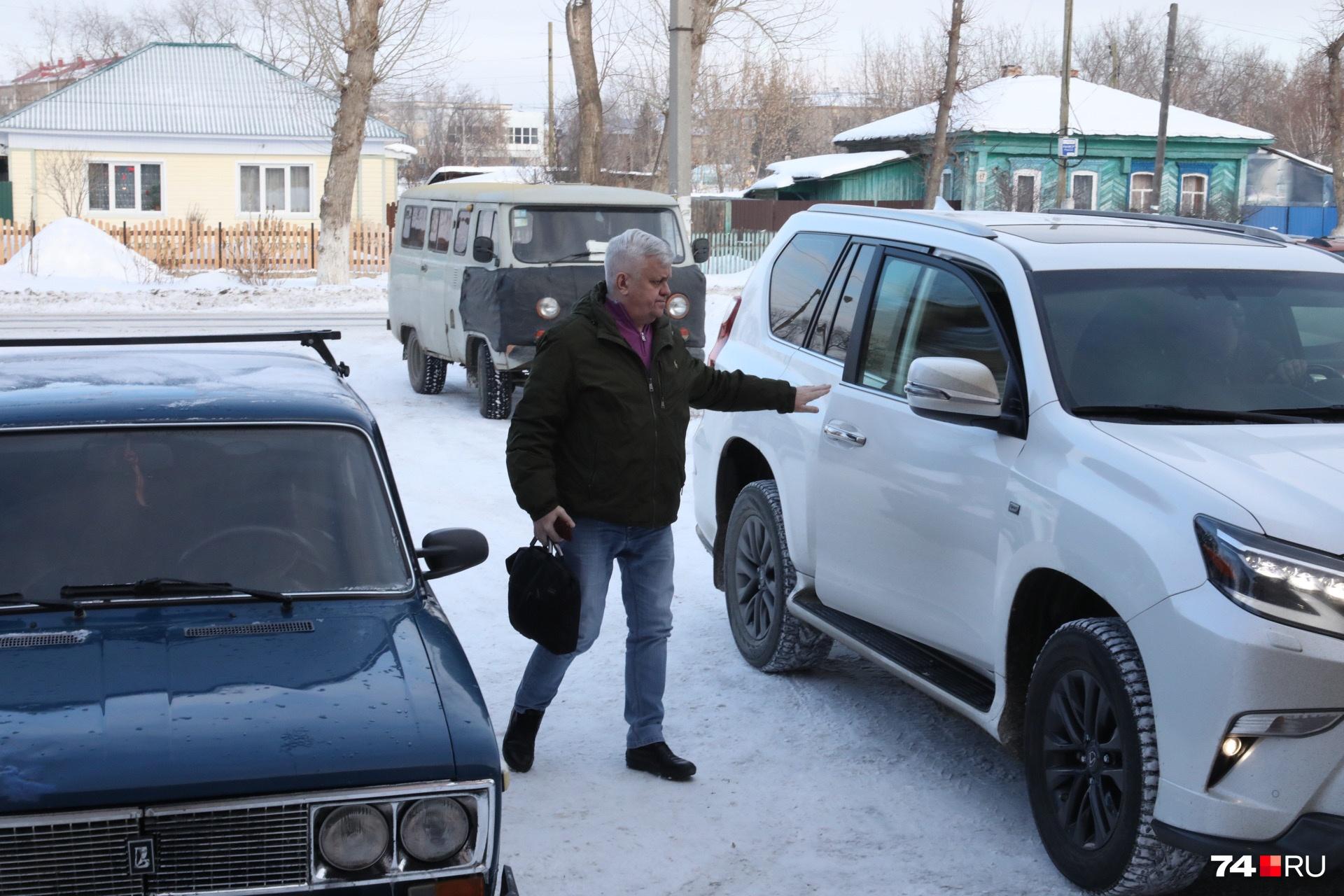 Андрей Косилов на заседание сегодня приехал последним&nbsp;<br>