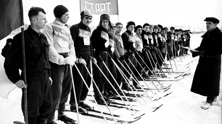 Ушаночки и гамаши: самарские архивы поделились уникальной фотоподборкой лыжников
