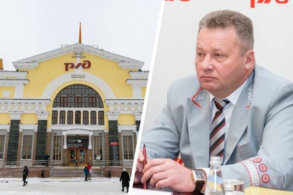 Справа —Вадим Владимиров, руководивший КрасЖД с мая 2018-го по март 2021-го