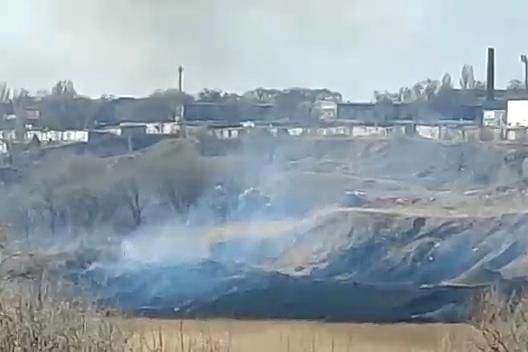 Черный дым и выжженная земля напугала жителей Спартановки
