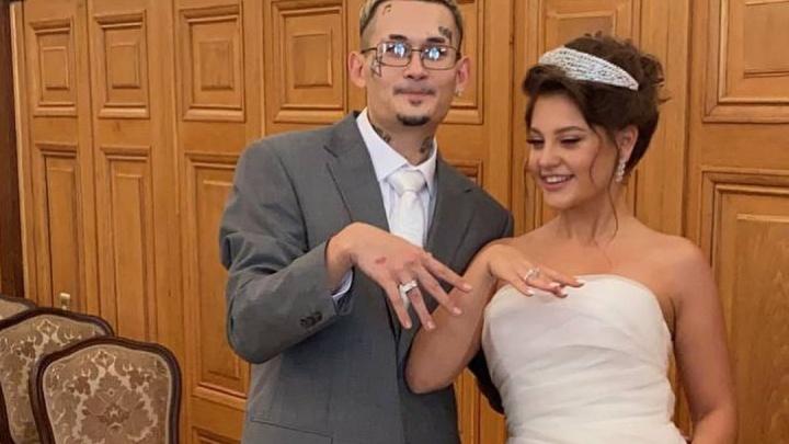 Снял штаны у загса: Моргенштерн и Дилара Зинатуллина показали фото со свадьбы