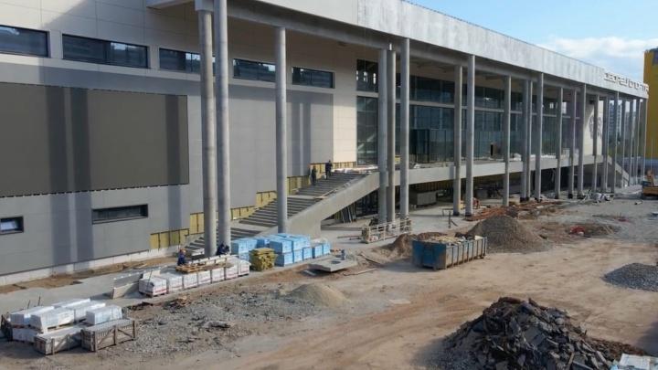 В Самаре завершили отделку фасадов Дворца спорта