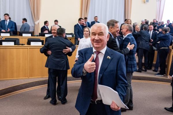 Возможно, председателем регионального парламента вновь станет Сергей Корепанов. Эту должность он занимает больше 20 лет