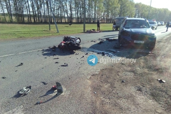 ДТП произошло на 1288-м километре трассы Москва — Уфа