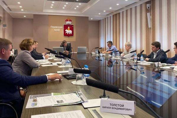Заседание прошло с участием губернатора Прикамья и краевых министров