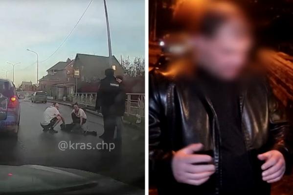 Слева — тело ребенка, справа — водитель-виновник