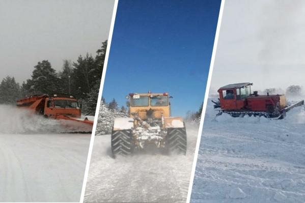 К борьбе со снегом привлекли десятки спецмашин
