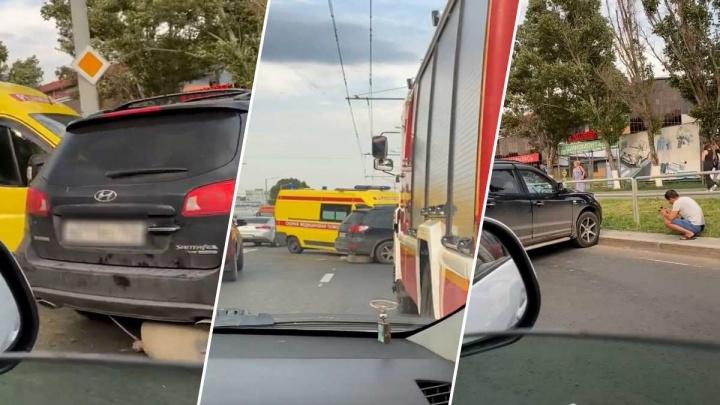 Полицейские назвали причину аварии со скорой помощью на Московском шоссе