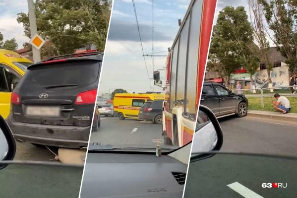 Удар пришелся на сторону водителя Hyundai