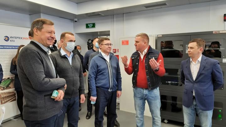 В Кургане Шумков и Якушев посетили индустриальные парки
