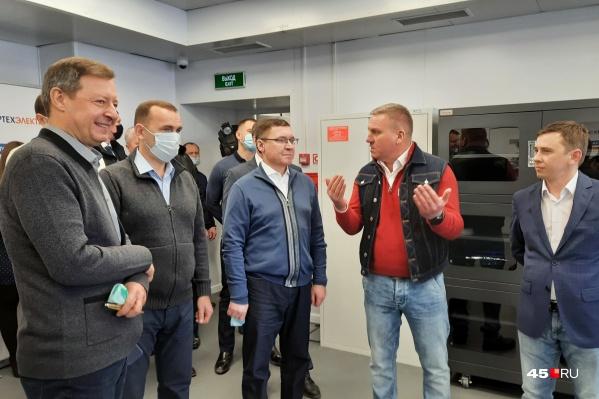 Владимир Якушев побывал в курганских индустриальных парках