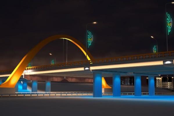 Так будет выглядеть сургутский мост уже в сентябре