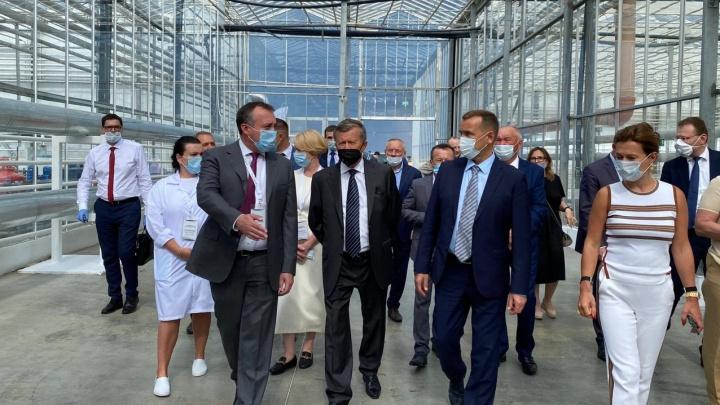 Председатель совета директоров «Газпрома» оценил зауральский агрокомплекс, который сам предложил построить