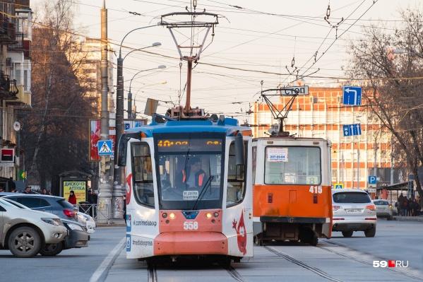 Пермгорэлектротранс обслуживает трамваи и некоторые автобусные маршруты в городе