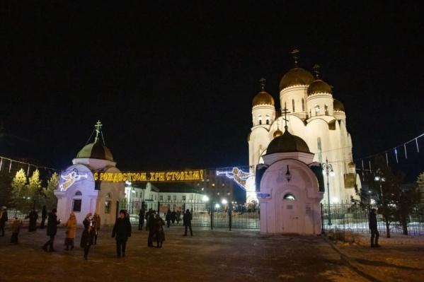 Традиционно основные события на Рождество в Красноярске происходят в храме на Щорса