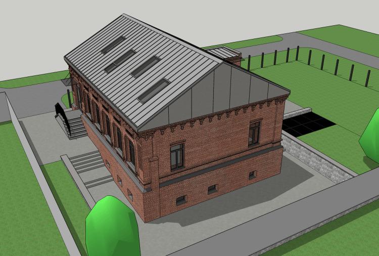 В процессе реконструкции новый собственник планирует опустить террасу, чтобы открыть заложенные когда-то окна на цокольном этаже