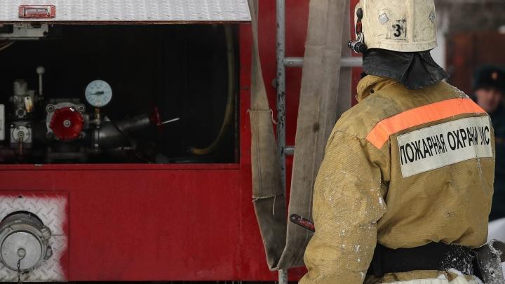 В новосибирском пригороде в девятиэтажке вспыхнул пожар