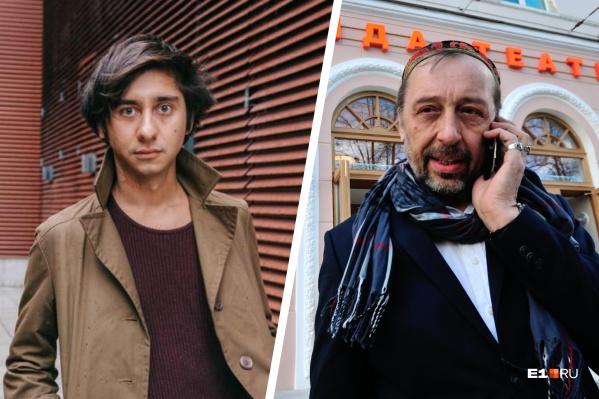 В разговорах с журналистами Николай Коляда (справа) резко отвечает, что с Ринатом Ташимовым его ничего не связывает