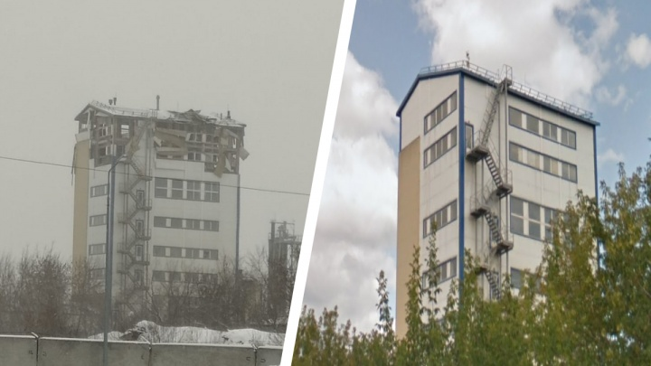 Взрыв в здании Кировского района. Уничтожено два верхних этажа