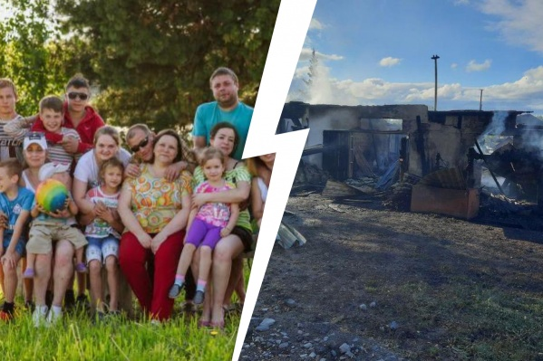 У многодетной семьи сгорел дом