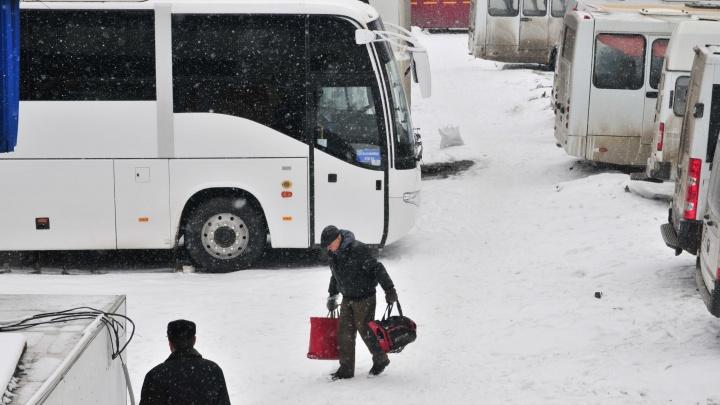 В Свердловской области ограничили движение междугородних автобусов из-за непогоды