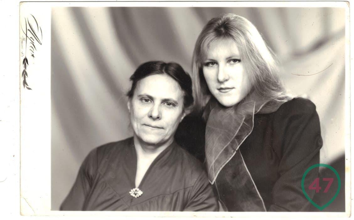 Маргарита Юдина и ее мать