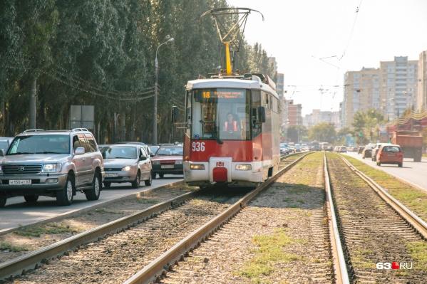 Дополнительные трамваи направят на проспект Ленина