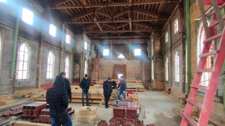 В Архангельске начали реставрировать Англиканскую церковь