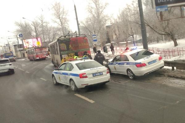 ДТП произошло около 08:30 на остановке «Ул. Большая Фёдоровская» на Московском проспекте