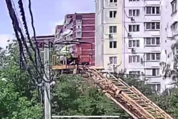 Несчастный случай произошел на высоте