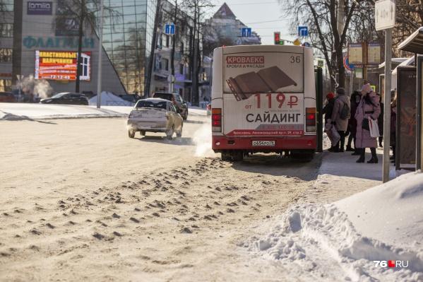 В Ярославле дороги стали шипованными