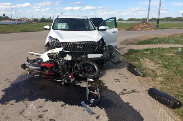 Участники аварии не поделили перекресток