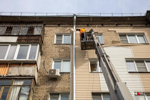 После капремонта фасад дома будет кирпичным