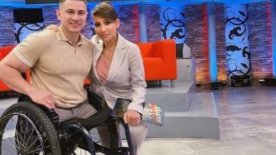 Рустам Набиев, который лишился ног в армии, снялся в шоу Первого канала