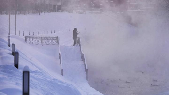 В Свердловской области продлили штормовое предупреждение из-за морозов