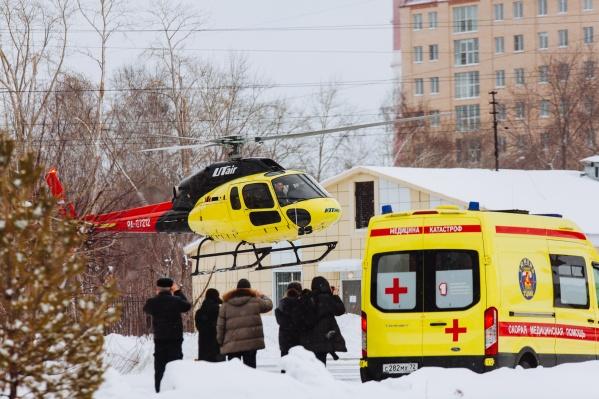 Вертолеты будут приземляться прямо в центре города
