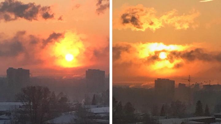 Уровень загрязнения воздуха в Новосибирске достиг 10 баллов