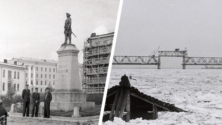 Известный сыщик, недостроенный мост и работающий пивзавод: исторические фото Архангельска 1950–1960-х