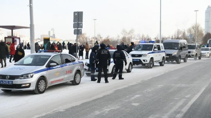 На акции протеста в Екатеринбурге начались задержания