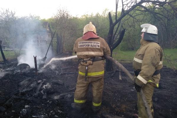 Пожар тушили около шести часов