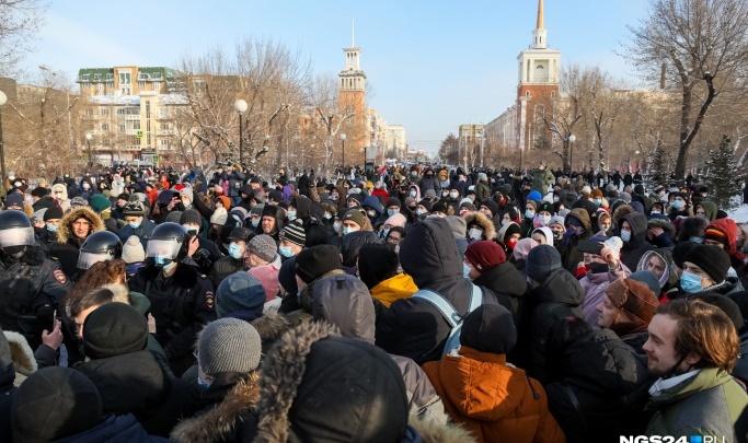 Власти насчитали 800 участников в субботнем шествии в Красноярске. В штабе Навального с ними не согласны